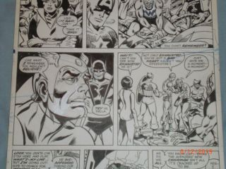 GEORGE PEREZ ART – THE AVENGERS ANNUAL 6 (YEAR 1976),  PAGE 3 3