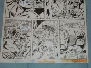 GEORGE PEREZ ART – THE AVENGERS ANNUAL 6 (YEAR 1976),  PAGE 3 4