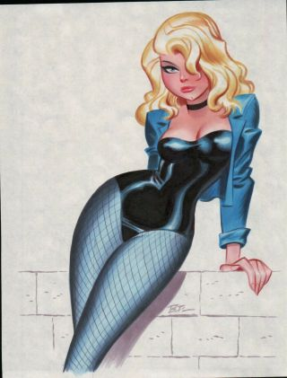 Black Canary By Bruce Timm Art Illustration