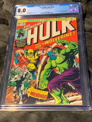 Incredible Hulk 181 Cgc 8.  0 (white Pages)