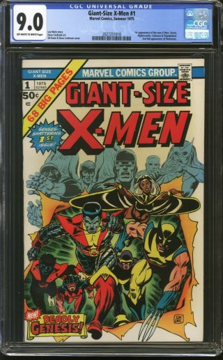 Giant Size X - Men 1 - Cgc 9.  0 1st App Of Nightcrawler,  Storm,  Colossus Hot