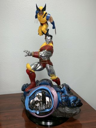 Custom Fastball Special Wolverine & Colossus 1/4 Scale Statue Fan Art X - Men
