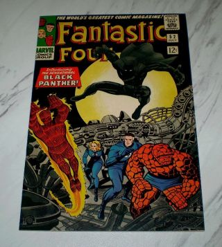 Fantastic Four 52 Nm,  9.  6 Ow Pages 1966 1st Black Panther