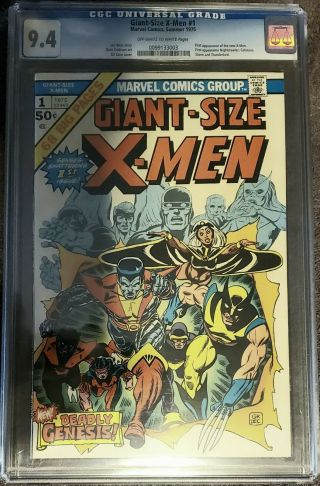 1975 Giant - Size X - Men 1 Cgc 9.  4 1st Storm Colossus Nightcrawler 2nd Wolverine