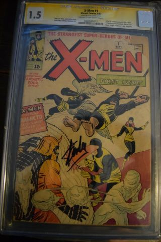X - Men 1,  Cgc 1.  5,  Signed By Stan Lee
