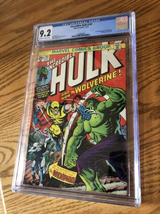Incredible Hulk 181,  Cgc 9.  2,  1st Appearance Wolverine,  Hot,  Cgc 9.  2