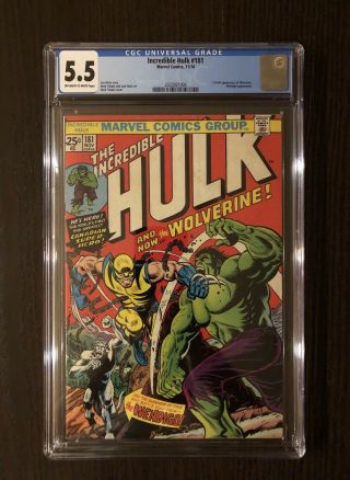 Incredible Hulk 181 1st Wolverine Cgc 5.  5 Ow/w Hot Book