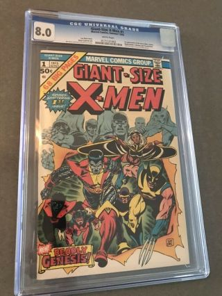 Giant - Size X - Men 1 Cgc 8.  0 White Pages