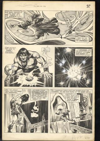 Savage Sword Of Conan 24 Pg 42 Comic Art John Buscema Signed