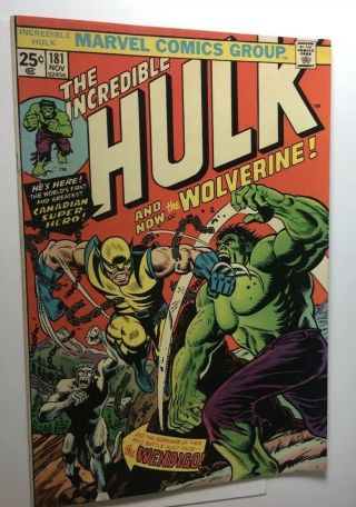 Incredible Hulk 181 With Marvel Value Stamp.  See Pictures 2
