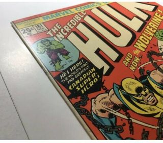 Incredible Hulk 181 With Marvel Value Stamp.  See Pictures 3