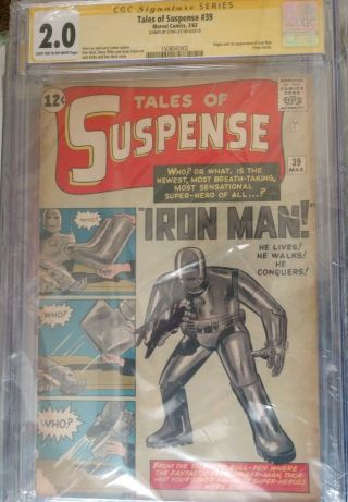 Tales Of Suspense 39 Signed By Stan Lee,  Cgc 2.  0
