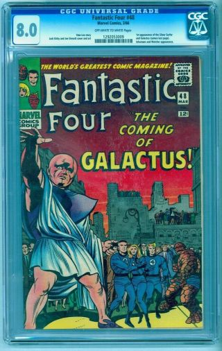 Fantastic Four 48 Cgc 8.  0 Ow - White 1st Silver Surfer Galactus See Our 49 9.  0
