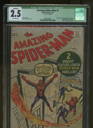 Spider - Man 1 Cgc Qualified 2.  5 | Marvel 1963 | 1st App J.  Jonah Jameson
