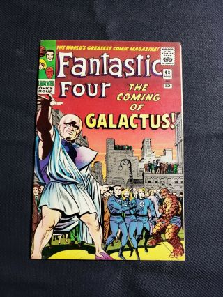 Fantastic Four 48 Extremely 1st App Of Silver Surfer And Galactus