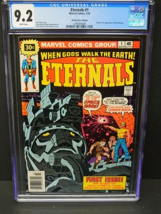Marvel The Eternals 1 1976 Cgc 9.  2 White Pages 30 Cent Cover Price Variant