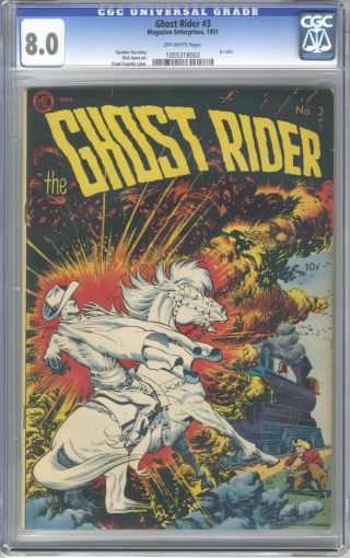 Ghost Rider 3 Cgc 8.  0 Frank Frazetta Cover Art