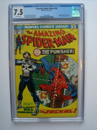 Spider - Man 129 Cgc 7.  5 (feb 1974) Vol 1,  1st Appearance Punisher - Wow