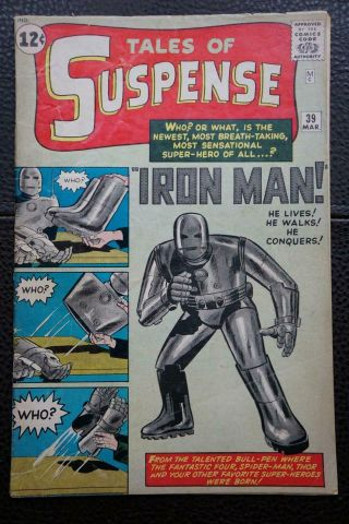 Tales Of Suspense 39 (march 1963) In 4.  5 - 5.  0