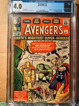 The Avengers 1 Cgc 4.  0 1st Appearance Of The Avengers (marvel Sep 1963)
