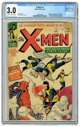 X - Men 1 Cgc 3.  0 1963 Universal Blue Label 1st Appearance Prof X Magneto