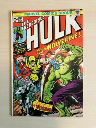 Incredible Hulk 181 - 1st Wolverine - Marvel Value Stamp Intact