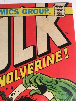 Incredible Hulk 181 With Marvel Value Stamp 10
