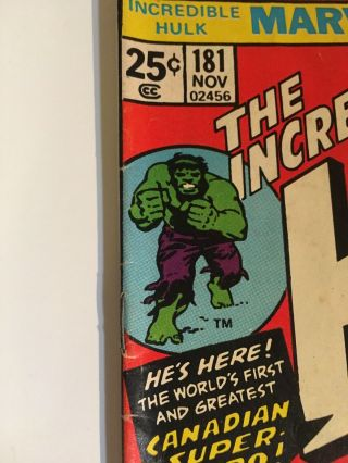 Incredible Hulk 181 With Marvel Value Stamp 3
