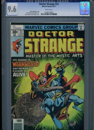 Dr Doctor Strange 23 Cgc 9.  6 (1977) White Pages Only 5 Higher @ 9.  8