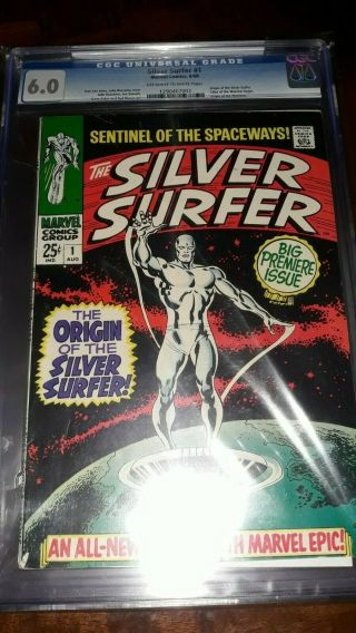Silver Surfer 1 Cgc 6.  0 1968 - Origin Silver Surfer - Stan Lee Story