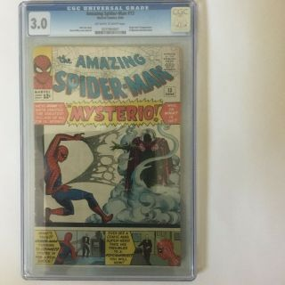 Spiderman 13 First Appearance Of Mysterio Cgc 3.  0 Hot Book