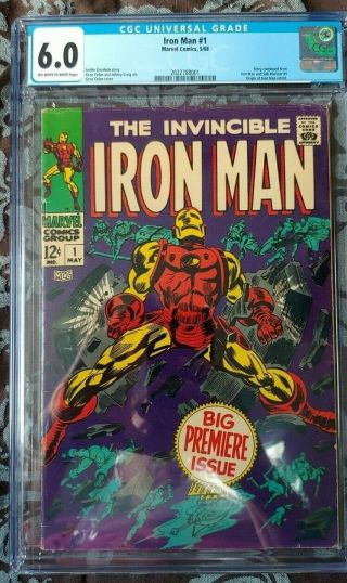 Iron Man 1 (marvel Comics 1968) Cgc 6.  0 Origin Of Iron Man Retold