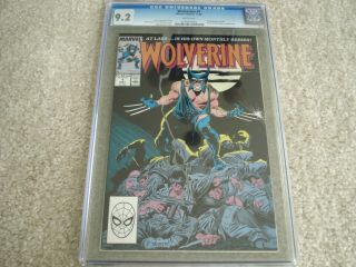 Wolverine 1 1988 Cgc 9.  2 - 1st Patch Chris Claremont Story Buscema Art