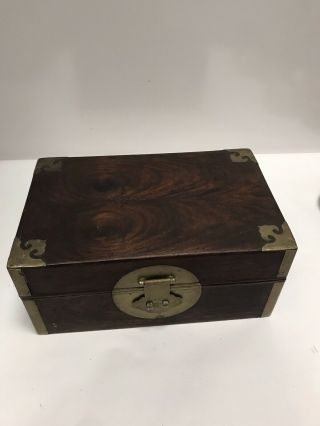 Antique Chinese Huanghuali Wood Scholar Box