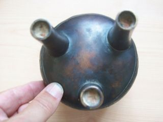 CHINESE BRONZE DING TRIPOD CENSER MING DRAGON DECORATION 2