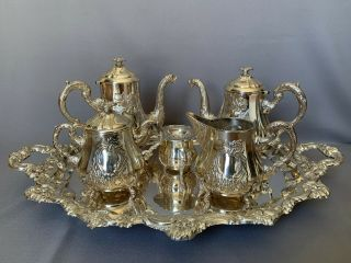 Gorgeous Heavy Sterling Silver 925 Tea & Coffee Set.  3950 Gr