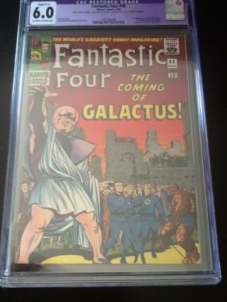 Fantastic Four 48 Cgc 6.  0 (r) Ow/white Pages First Silver Surfer/galactus C - 1 Sl