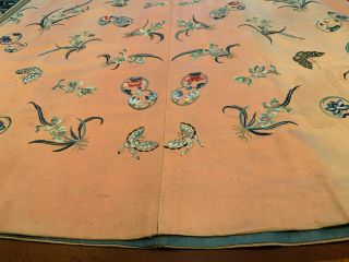 A Rare Chinese Qing Dynasty Embroidered Butterfly Silk Robe. 3