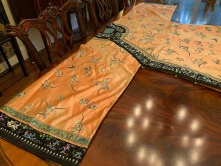 A Rare Chinese Qing Dynasty Embroidered Butterfly Silk Robe. 7
