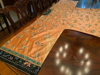 A Rare Chinese Qing Dynasty Embroidered Butterfly Silk Robe. 9