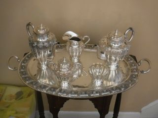 Sterling Silver Coffee And Tea Set - - Over 13 Lbs.  Of Silver