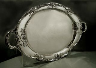 International Sterling Tea Set Tray C1920 Richelieu - 192 Oz.