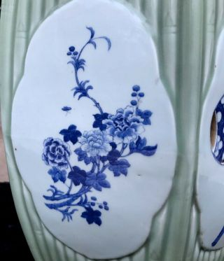 QUALITY 19THC CHINESE BLUE WHITE & LONGQUAN CELADON GLAZED GARDEN SEATS 7