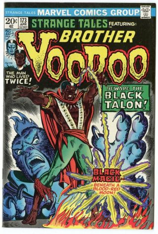 Strange Tales 173 Nm - 9.  2 White Pages Brother Voodoo Marvel 1974