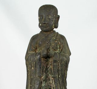 LARGE CHINESE BRONZE FIGURE of ANANDA SONG - EARLY MING DYNASTY 1968 Grams 2
