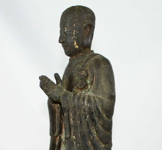 LARGE CHINESE BRONZE FIGURE of ANANDA SONG - EARLY MING DYNASTY 1968 Grams 4