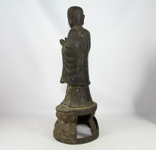 LARGE CHINESE BRONZE FIGURE of ANANDA SONG - EARLY MING DYNASTY 1968 Grams 8