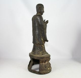 LARGE CHINESE BRONZE FIGURE of ANANDA SONG - EARLY MING DYNASTY 1968 Grams 9