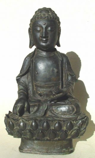 Large Ming Dynasty Bronze Figure Of Buddha