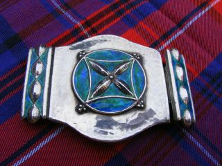 An Arts & Crafts Liberty Silver And Enamel Buckle